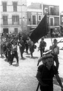 ¡Viva la República! ¡Viva la libertad!  ¡Muera el fascio! Guerra civil