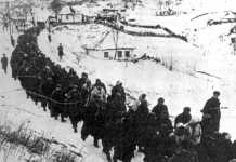Alemanes con hechos prisioneros por los soviéticos tras la batalla de Dniéper