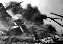 Un momento del bombardeo japonés que ha hecho entrar a Estados Unidos en la Guerra Mundial