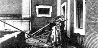 El automóvil del presidente del Gobierno fue impulsado hasta un patio interior de un edificio cercano