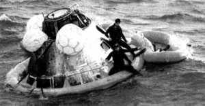 El módulo de descenso del Apolo XI, tras regresar a la Tierra