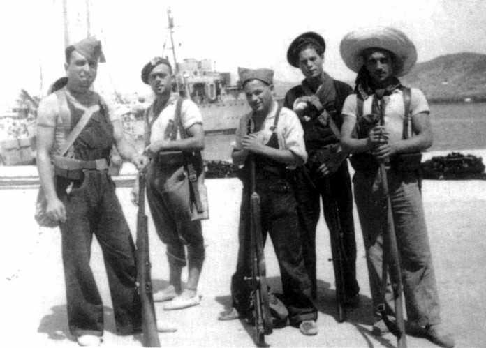 La acción de los milicianos catalanes (en la imagen, en 1936) aún se recuerda en Ibiza. Ello acentúa la ira contra los republicanos ibicencos.