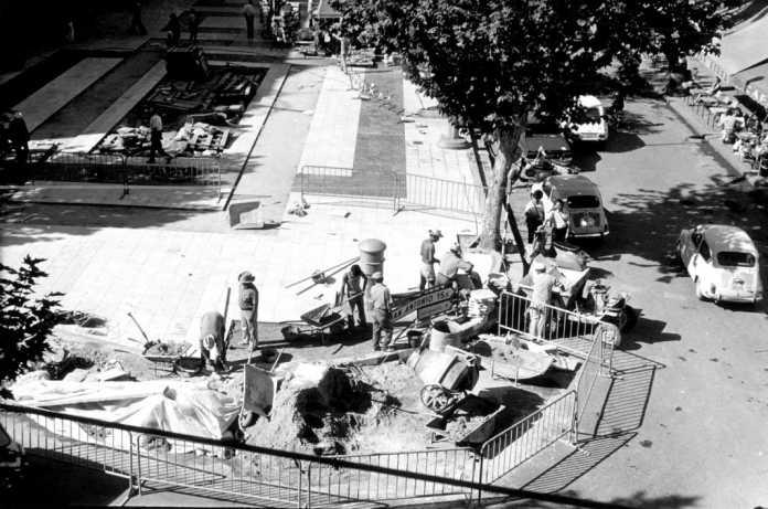 Aspecto de las obras del paseo de Vara de Rey. Foto: Arxiu d'Imatge i So. Consell Insular.
