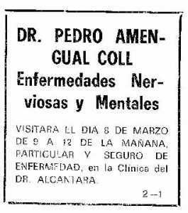 Consulta en la clínica del doctor Alcántara.