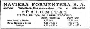 En 'Palomita' a Formentera