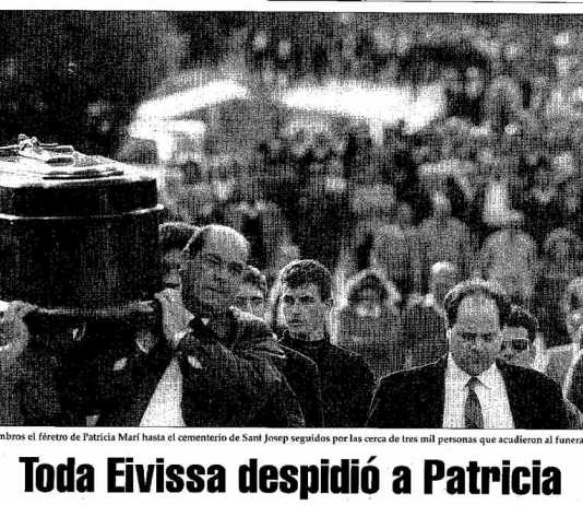Entierro multitudinario de Patricia Marí.
