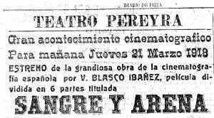 Gran estreno de la película basada en la obra de Blasco Ibáñez.