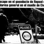 Zona afectada por la fuga de gas.