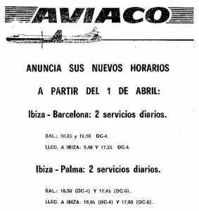 Vuelos de la desaparecida Aviaco.