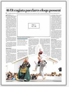 Página hecha por Rosa Mayans, la maquetadora de Redacción, para la noticia sobre la presentación del libro 'Ball pagès. Orígens'.