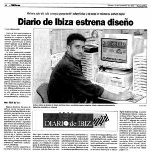 El 14 de noviembre de 1998 salió a internet Es Diari. D.I.