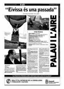 Reportaje 'accidentado' de Pere Palau. D.I.