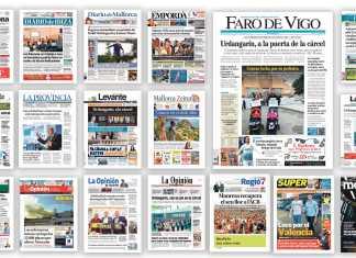 Portadas periódicos de Prensa Ibérica.