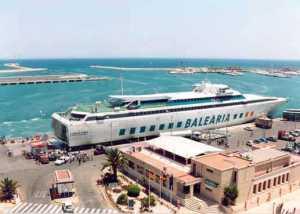 'Federico García Lorca', primer 'fast ferry' que operó en Balears.