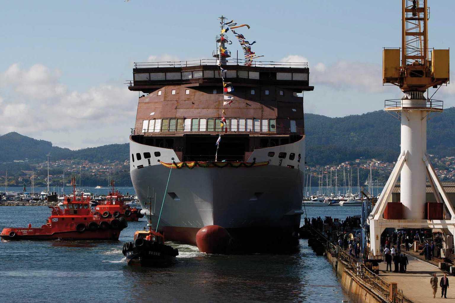 Botadura del barco 'Martín i Soler' en Vigo, 2008.