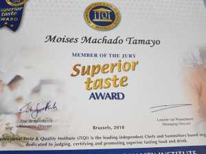 Moisés Machado ha sido este mismo año jurado en el 'Superior Taste Awards' de Bruselas. fotos: Cana Sofía