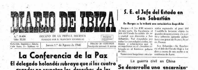 Cabecera Diario de Ibiza de 1946