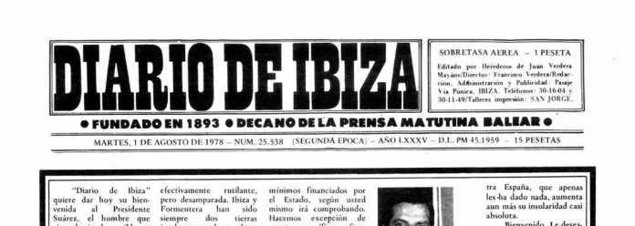 Cabecera Diario de Ibiza de 1978