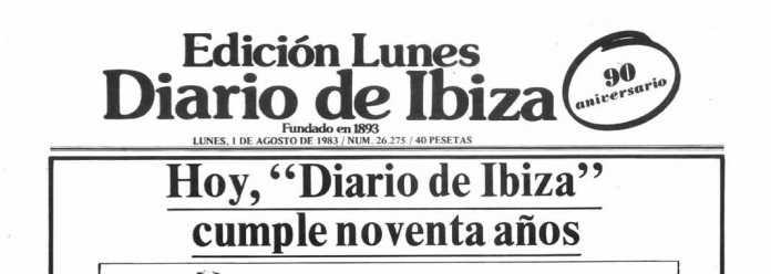 Cabecera Diario de Ibiza de 1983