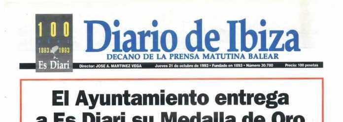 Cabecera Diario de Ibiza de 1993