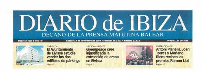 Cabecera Diario de Ibiza de 1998