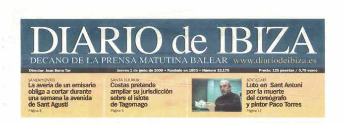 Cabecera Diario de Ibiza de 2000