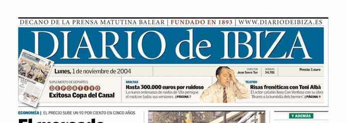 Cabecera Diario de Ibiza de 2004