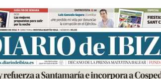 Evolución de las cabeceras. Cabecera Diario de Ibiza de 2016