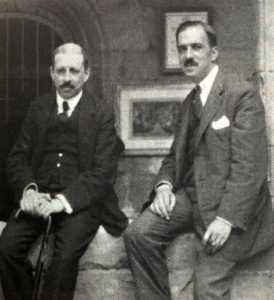 Josep Moragas y Josep M. Boix, los fundadores de La Caixa en 1927. fotos: Caixabank