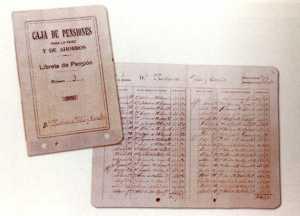 Fotografía de la primera libreta de Balears.