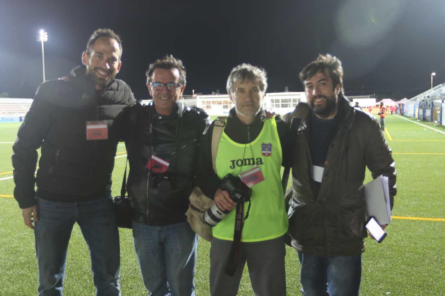 Equipo de Deportes en la Copa del Rey de fútbol en Formentera. D. I.