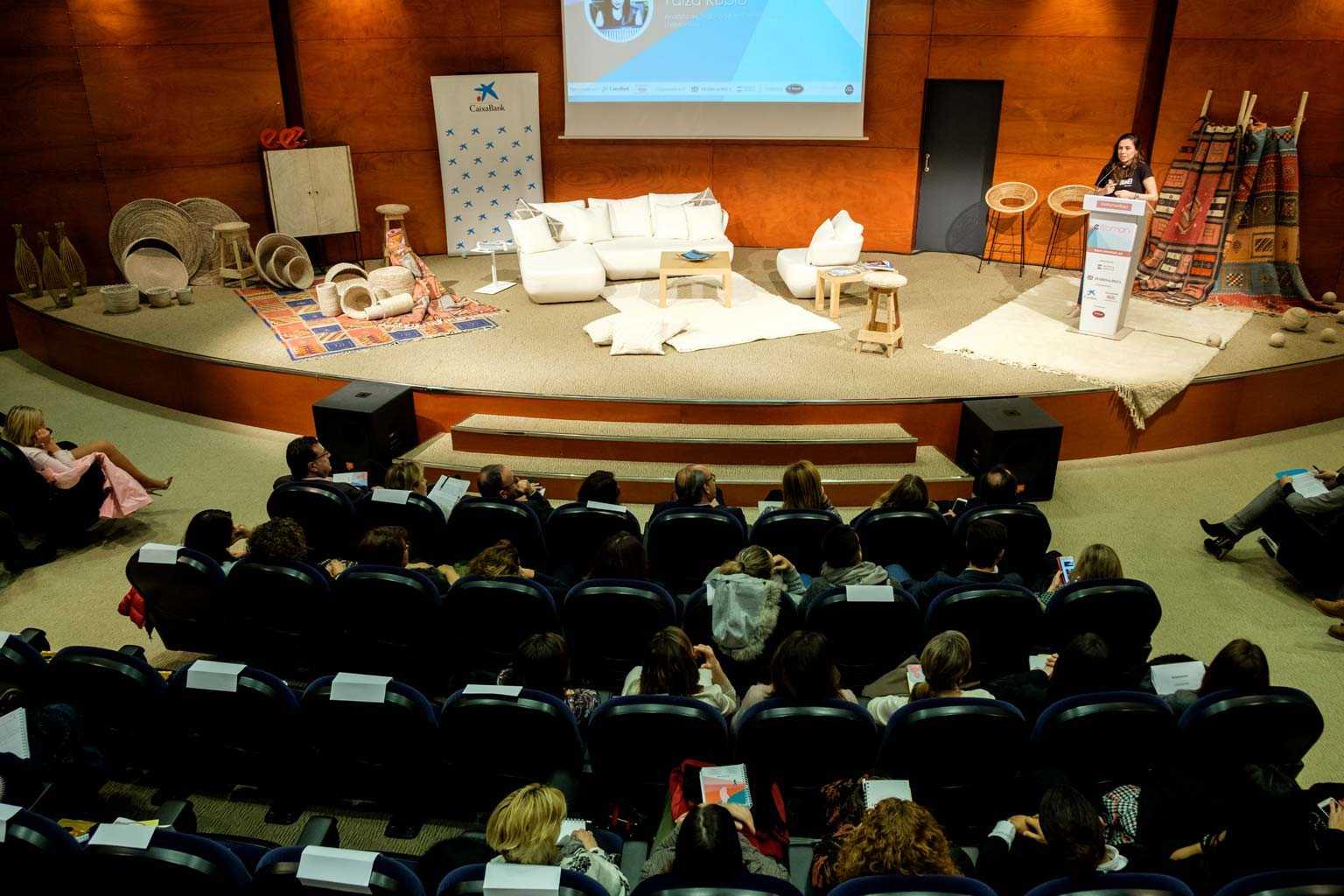 Celebración en el Club Diario del foro de mujeres trabajadoras E-Woman, que recorre cada año varias ciudades de España. S.G.C.