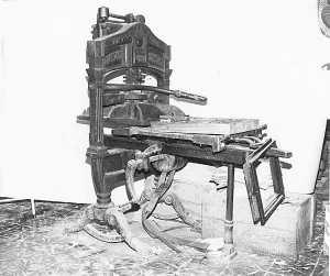 La Imperial Press con la que se tiró el primer Diario. Archivo DI