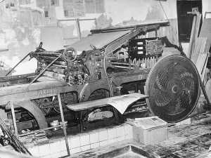 La imprenta eléctrica Voirin de los años 60. Archivo DI