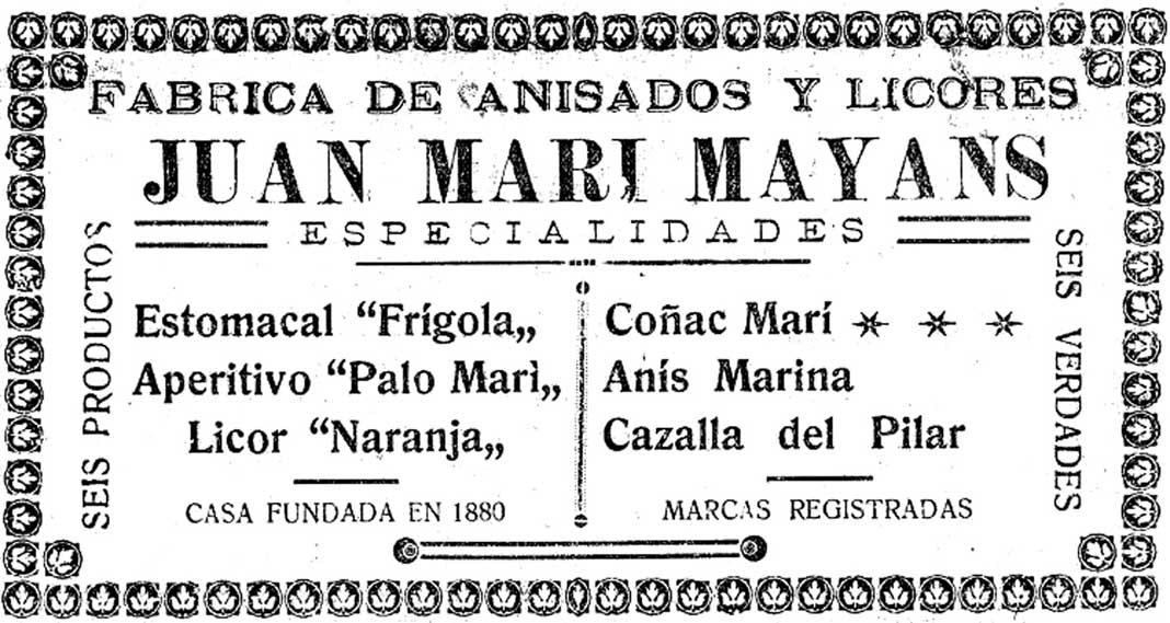 Anuncio publicado en la portada de Diario de Ibiza el 15 de julio de 1927. foto: Hemeroteca de Diario de Ibiza