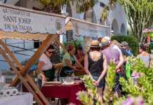 Huerta ecológica, sabores tradicionales. Cada sábado se organiza un taller diferente.