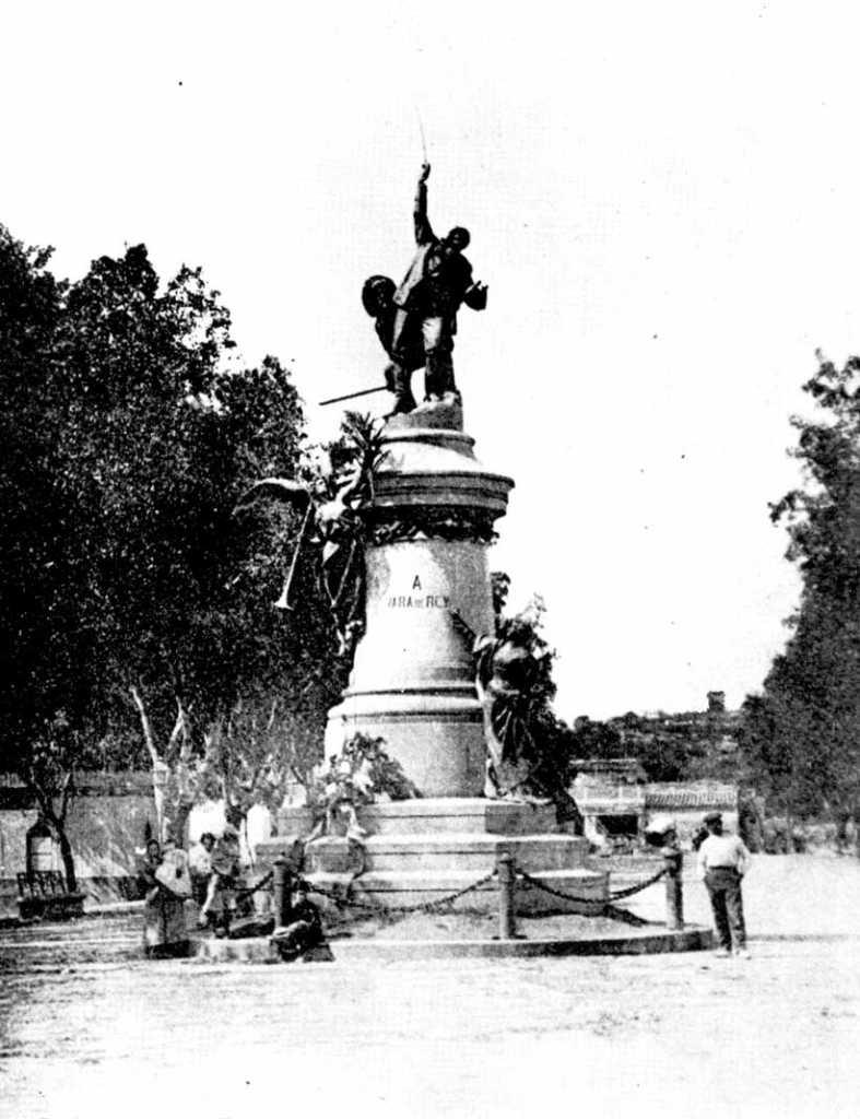 Monument a Vara de Rey a primers del segle XX. Lacoste