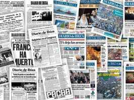 Portadas históricas de Diario de Ibiza