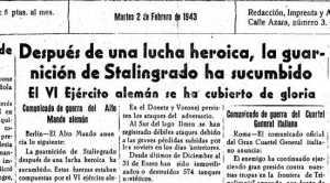 La noticia de la caída de Stalingrado. DI.