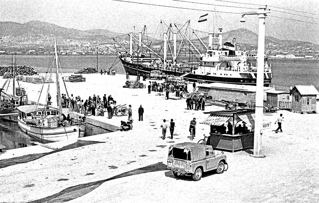 Aspecto que presentaba el puerto (zona del actual Martillo) en 1960. Albert Schwarz