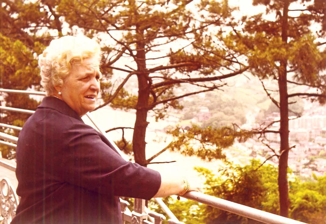 Luz Ribas, viuda de Juan Verdera, en una imagen cedida por su nuera María Teresa Fernández. DI.