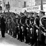 Historia. Franco en los Andenes durante su visita a Eivissa en 1955. V. Domínguez/Aisme