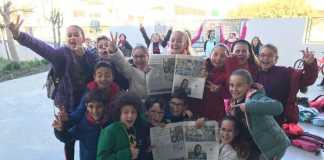 Gente, con Diario de Ibiza. Alumnos del colegio S'Olivera muestran un reportaje sobre un proyecto que hicieron en la escuela. J. M. l.Romero