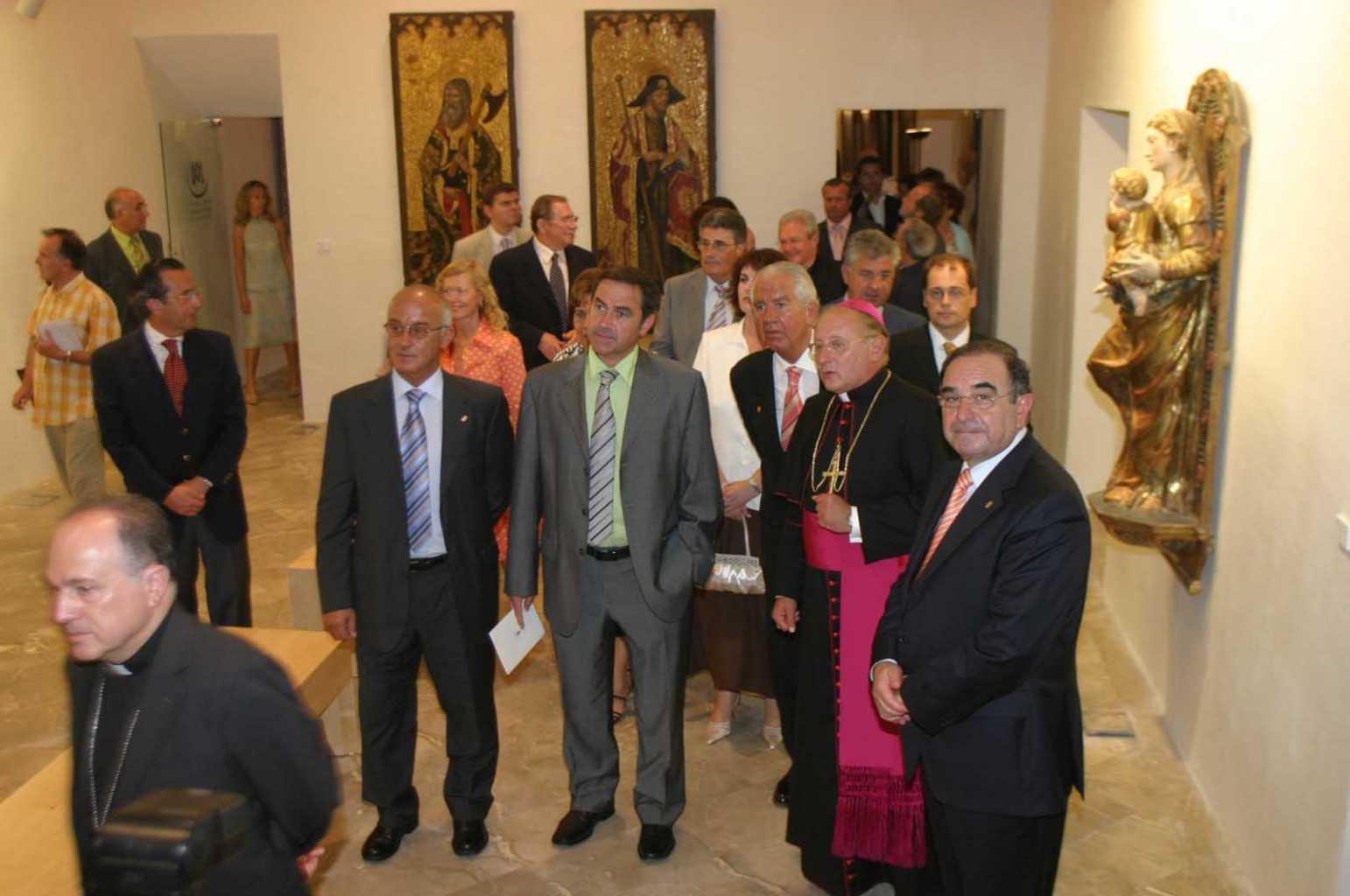 Inauguración del rehabilitado Museo Diocesano de Eivissa, en julio de 2007. Moisés Copa