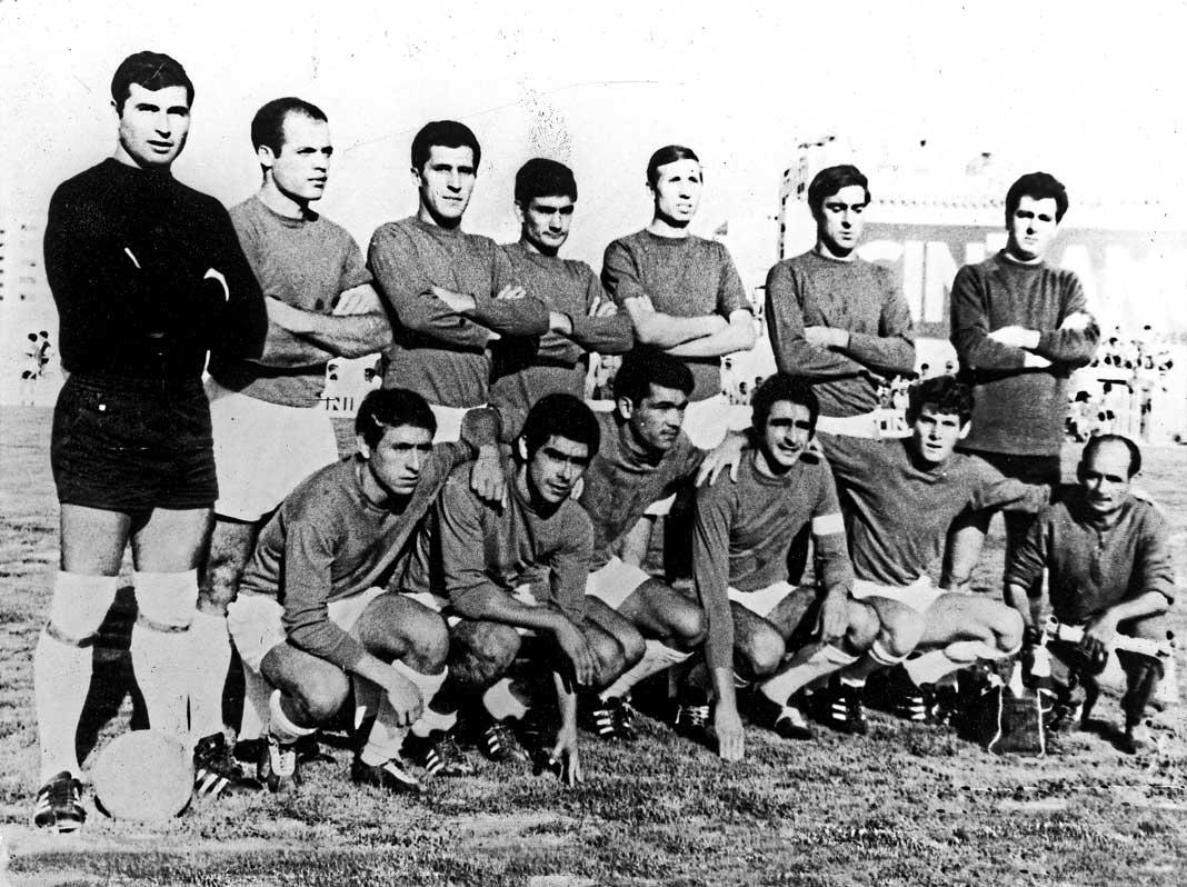 Alineación de la histórica SD Ibiza del año 1968. DI.