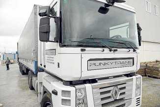 Un camión de Punkytrans.