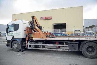 Uno de los vehículos de Reciclajes Ibiza.