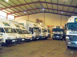 Flota de vehículos de Eurobalear de Transportes.