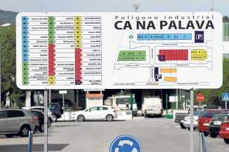 Cartel de entrada al polígono   Gabi Vázquez