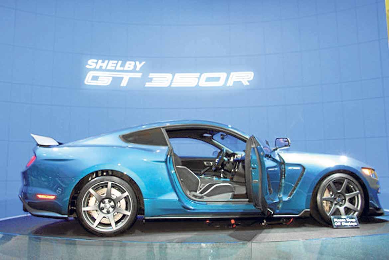 Ford Mustang Shelby GT350R, un deportivo de Ford que hizo su debut en Los Ángeles.